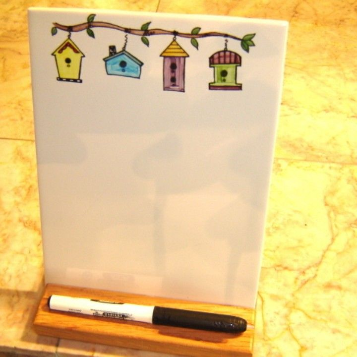 Birdhouse Dry Erase Board From Howard Tile For 20 On Square Market