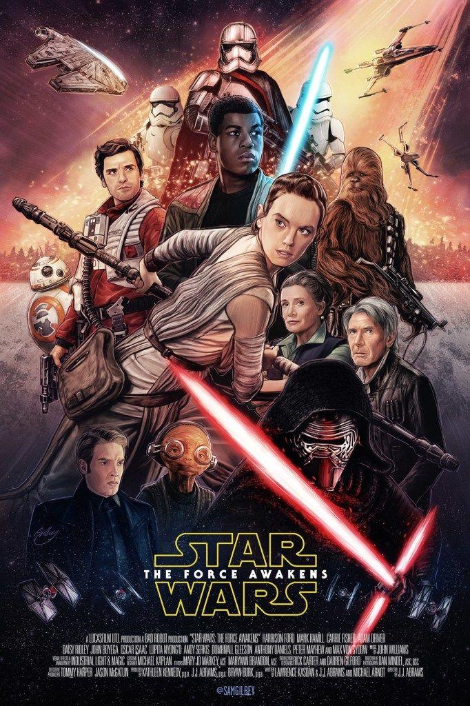 Star Wars The Force Awakens Posters De Filmes Cartazes De Filmes Star Wars Personagens