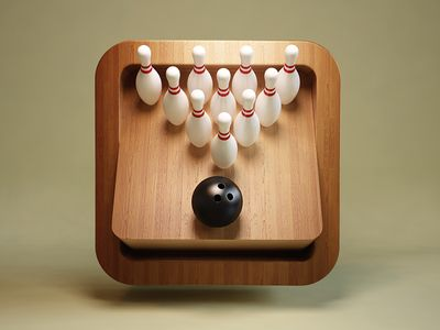 my dad likes to play i in real Bowling iOS icon