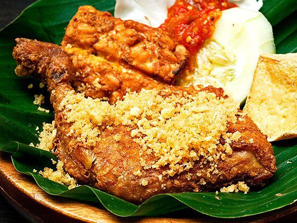 Ayam Penyet Ranggup Indonesia.