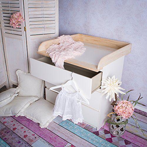 table langer en bois naturel pour commode ikea malm - Ikea Table A Langer Sur Le Lit
