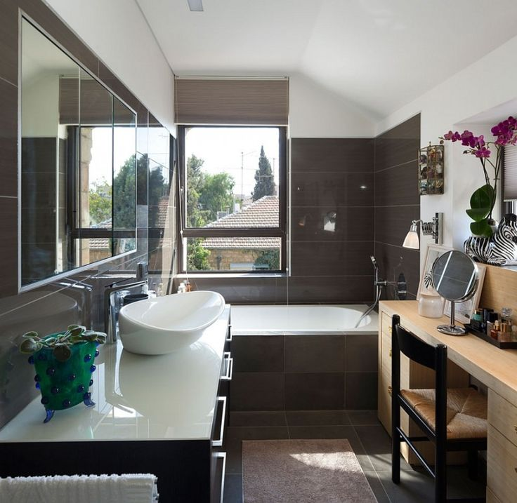 Bathroom : Beautiful Bathroom Bamboo Vanity High Gloss Chocolate ...