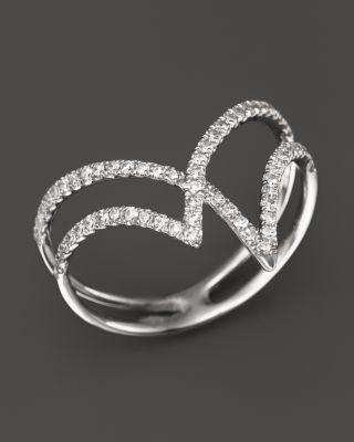 Diamond Geometric Ring in 14K White Gold, .30 ct. t.w. | Bloomingdale's