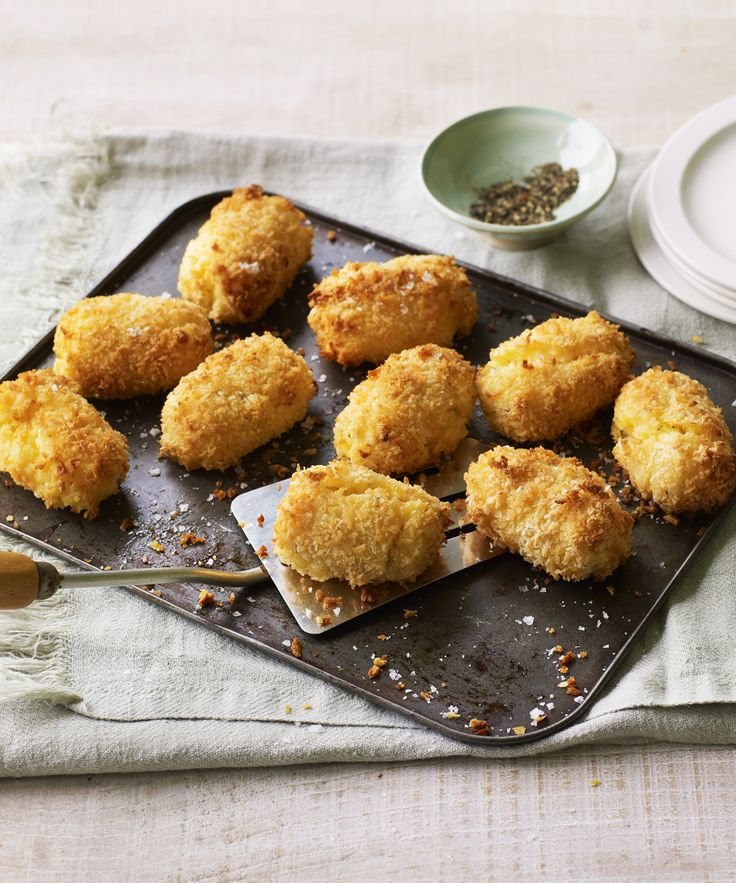 A potato croquette that stands up to any roastie! Whip up the Hairy Bikers' easy make-ahead croquettes - they go perfectly with roast chicken.