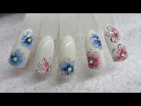 baseveheinails: Prawdziwe kwiatki na paznokciach - Arte Brillante Indigo