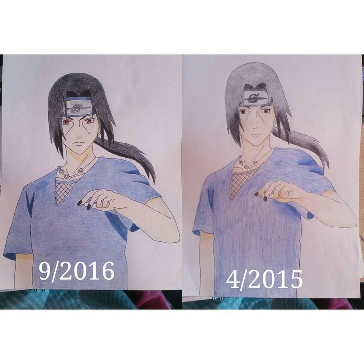 Progress. Paper drawing. Anime/manga: Naruto [Uchiha Itachi]