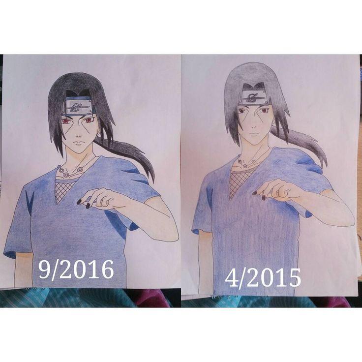 Progress. Paper drawing. Anime/manga: Naruto [Uchiha Itachi]