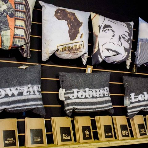 Joburg cushions, handmade word cushions and iwasshot photographs printed on canvas covers. All available from www.iiilovelocal.com