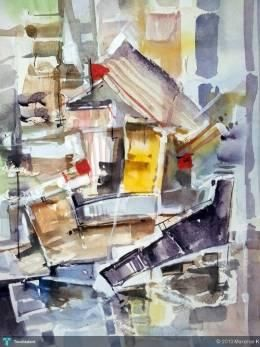 Harbour : Abstract water color on board #Creative #Art #Painting @touchtalent.com