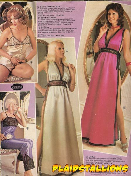 1970's Lingerie Catalog - there are many ideas here - depending on your character development