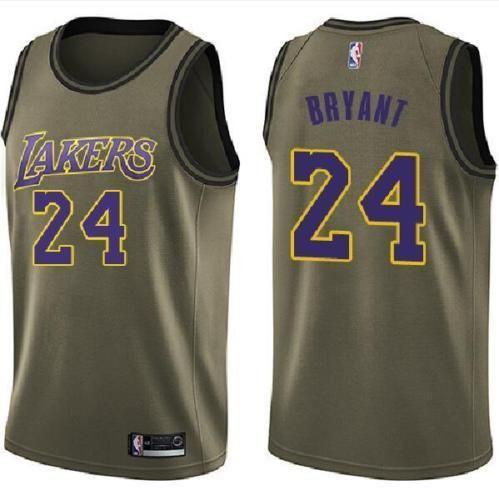 e4110c2bdf86 Los Angeles Lakers  24 Kobe Bryant Basketball jersey Military green  Size S-XXL  fashion  clothing  shoes  accessories  mensclothing   othermensclothing (ebay ...