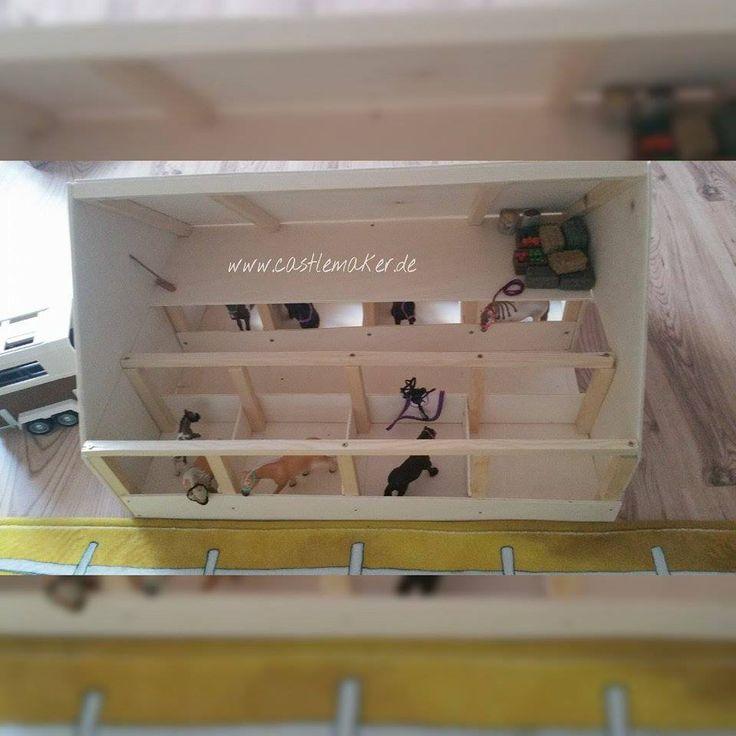 DIY – Wir bauen einen Schleich Pferdestall Basteln für Schleich. Wie baut man den perfekten Schleich Stall? How to build a Schleich horse stable