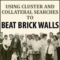 What to do when you hit a dreaded brick wall in your genealogy research? Use cluster and collateral searching to make a breakthrough!