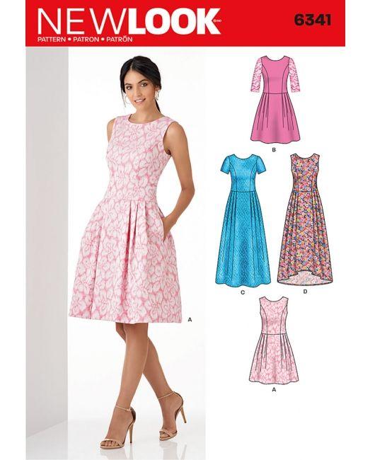 New Look 6341:Elegantes Kleid mit Falten in …