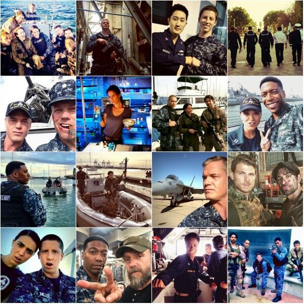 The Last Ship season 2 collage whit photos of making off of the season 2
