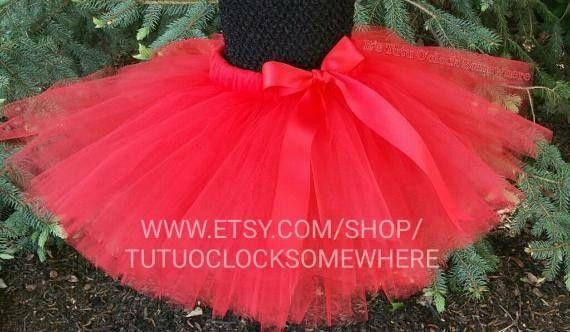 Customizable Red Tutu Skirt Red Adult Tutu Red Baby Tutu