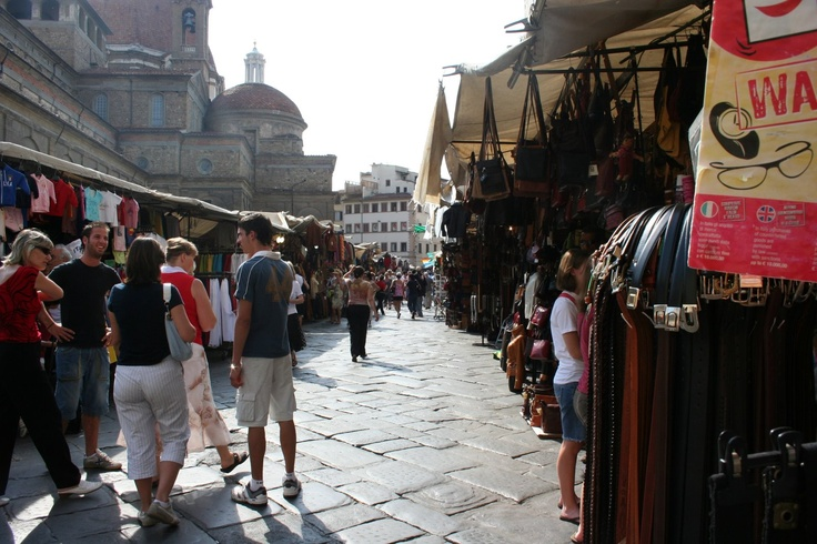 Street markets in Florence! Where I got my favorite bracelet for just 1 euro!