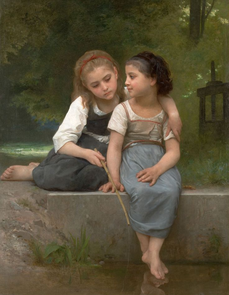 WILLIAM ADOLPHE BOUGUEREAU (French, 1825-1905)_fishing for frogs, 1882
