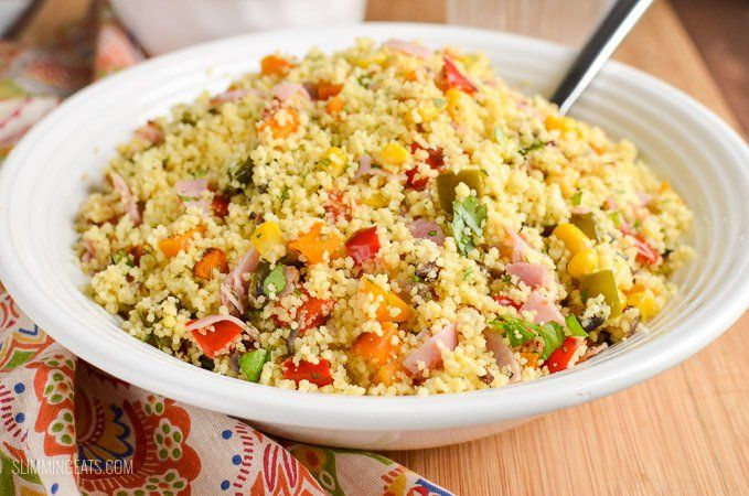 Slimming Eats Syn Free Roasted Vegetables and Ham Couscous - dairy free, Slimming World and Weight Watchers friendly