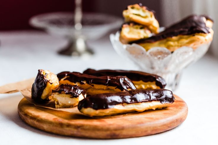 Delicious Thermomix chocolate Eclairs. With custard filling. Recipe is simple and so delicious.