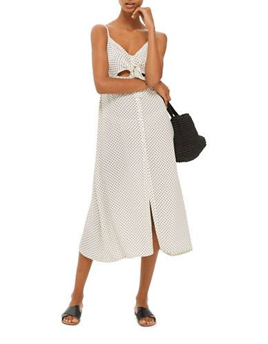 Femme | Femme  | Pinstar Knot Front Midi Dress | La Baie D'Hudson