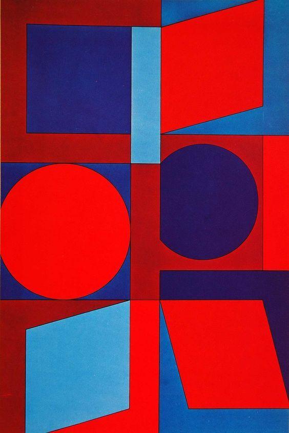 1970 Pop Abstract Art Victor Vasarely Kalota MC Print - ORIGINAL POP1