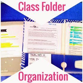 Class folder organisation by the organized charm blog