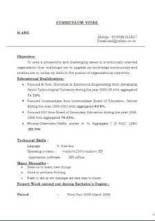 how to structure a resume