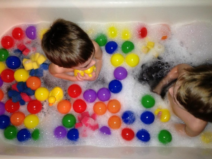 fun bath time ideas for babies. ball pit bathtime from caution! twins at play fun bath time ideas for babies