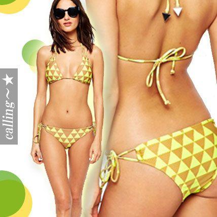 セレブ愛用者多数 ☆ASOS☆ Costa Maya Slide Triangle Bikini