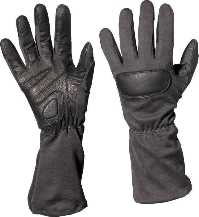 Black - Special Forces Fire and Cut Resistant Tactical Gloves - Army Navy Store
