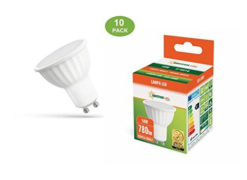 Spectrum 10-pack 10W LED non-dimmable gu10 780lm warm whi... used in Study. Would be happy to use in attic also if they are suitable for the fitting - check!