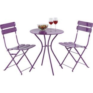 Buy Bistro Set Purple At Your Online Shop For Garden Table An