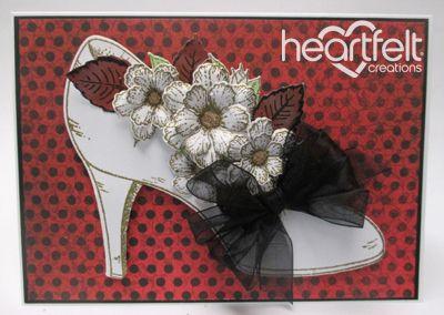 Heartfelt Creations | Blooming White Shoe
