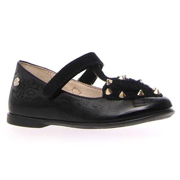 Naturino Girl S Sulmona Black Patent T Strap Studs Sizes 33 35 Tip Top Shoes Naturino Kid Shoes Bernie Mev Shoes