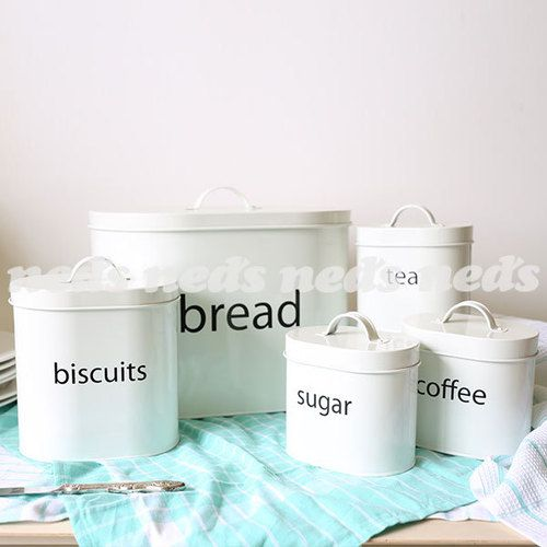 Storage Canisters with Print Set of 5