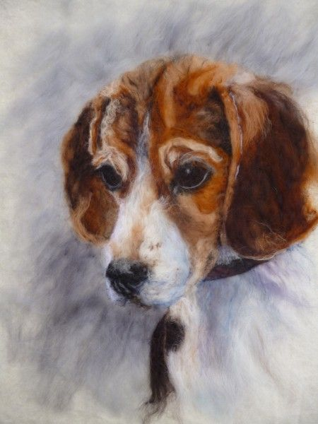 Beagle Pup - Wet Felted