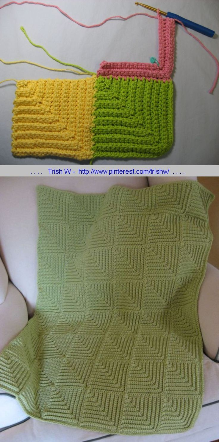 Mitered Squares blanket pattern, join-as-you-go - so cute!