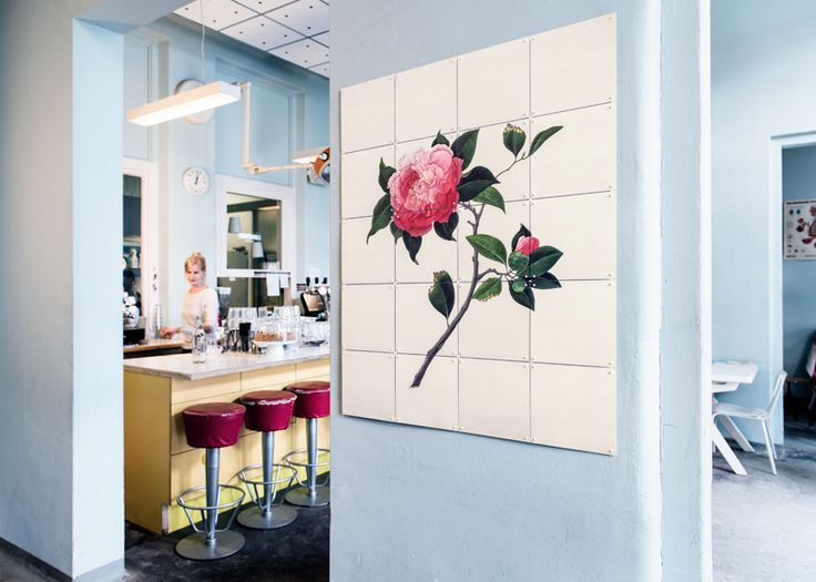 IXXI wall decoration made with a painting of a pink rose of Reeves, from the National History Museum image bank collection. Price in this example is $92.30 #ixxi #ixxidesign