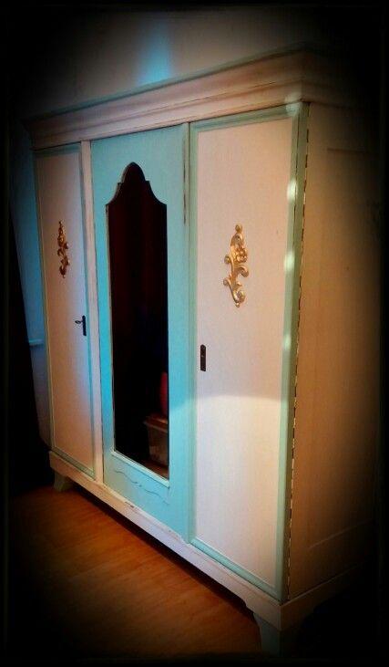 Epic Kleiderschrank Weiss Mint mit Blattgold