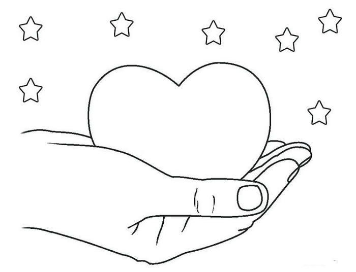 Hearts And Stars Coloring Pages Heart Coloring Pages Hand Embroidery Patterns Free Star Coloring Pages