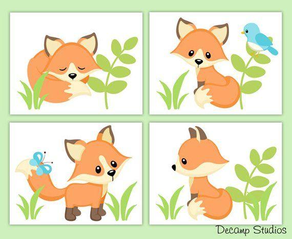 Pin On Clipart Little Kids Animals Fox