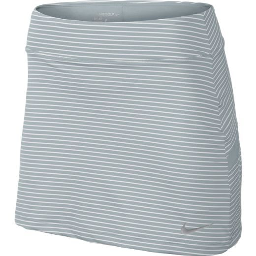 Wold Grey / White Nike Ladies Bogalicious Print Pull-On Golf Skort #lorisgolfshoppe