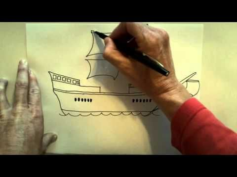 Columbus' Ship Drawing Lesson