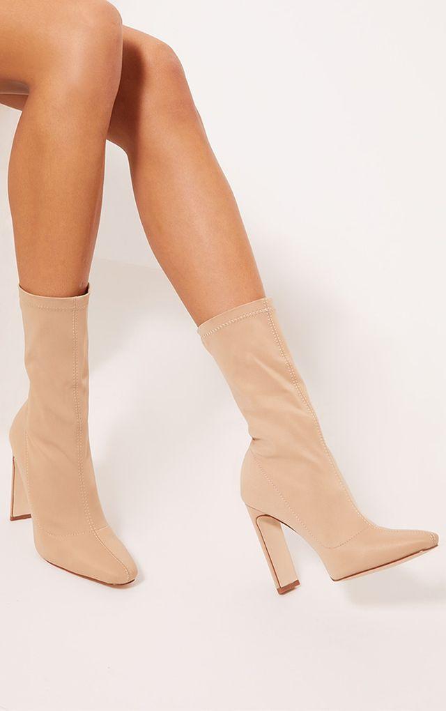 womens heeled sock boots