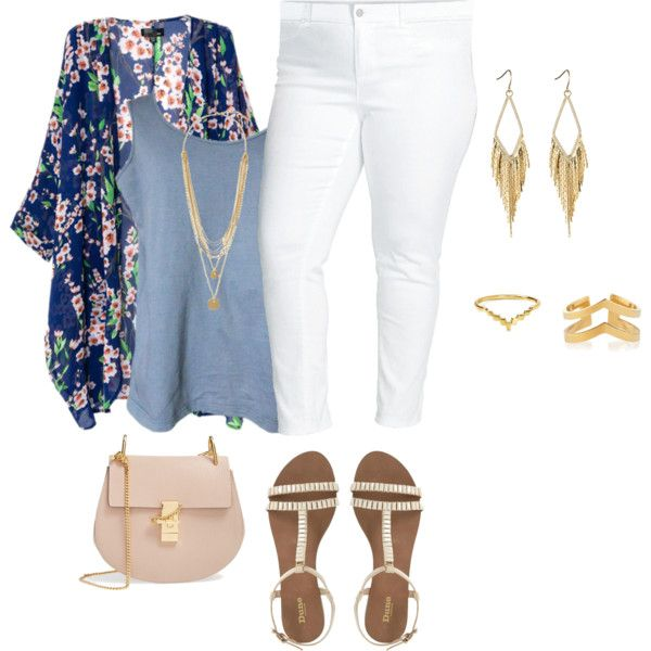plus size summer blues by kristie-payne on Polyvore featuring Two by Vince Camuto, Chicnova Fashion, Chloé, Jennifer Zeuner, Vince Camuto and Gorjana