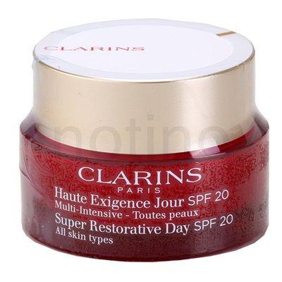 Clarins Super Restorative denní liftingový krém proti vráskám pro všechny typy pleti SPF 20