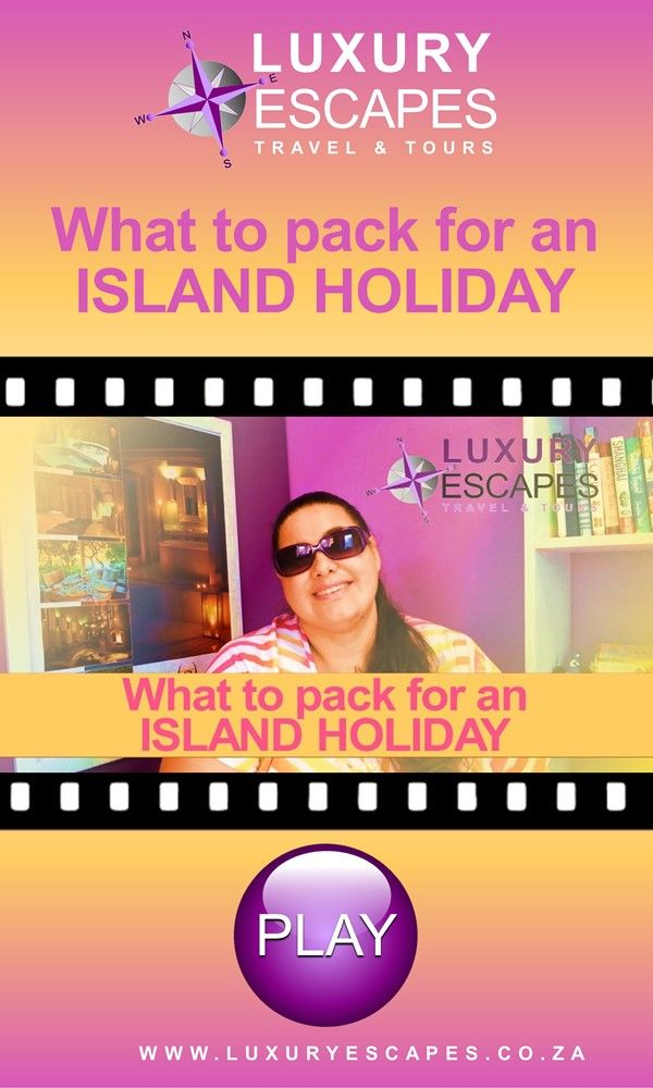 "Have you see our video on ""What to pack for an ISLAND HOLIDAY"" ? Watch it now on https://youtu.be/7zTr3TE_hZc Thank you and enjoy!"