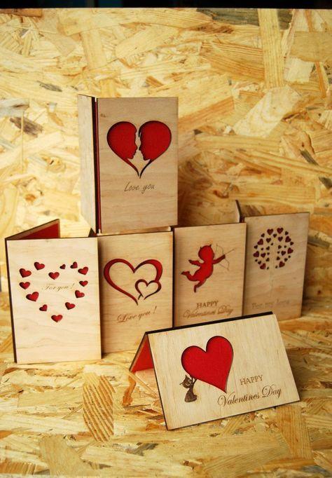 Holz Postkarte aus Holz Bild Grußkarte aus Holz Einladung Liebeserklärung Geschenk für ihr Geschenk für ihn handgefertigte Karten Einladung von NataTrade auf …