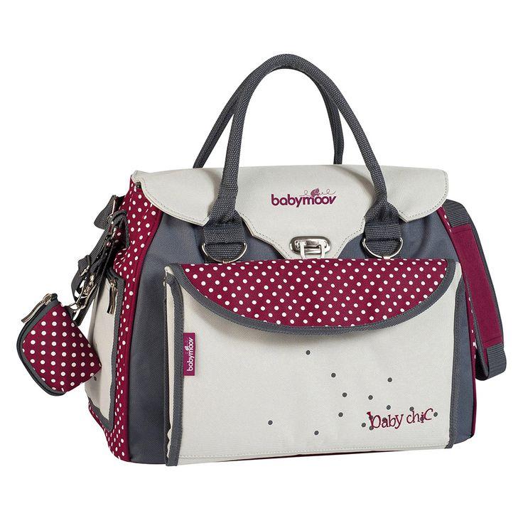 Die Babymoov Wickeltasche Baby Chic ist der ideale Begleiter für unterwegs mit vielen nützlichen Fächern und Tragegurt.